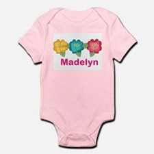madelyn's tropical flower personal Infant Bodysuit