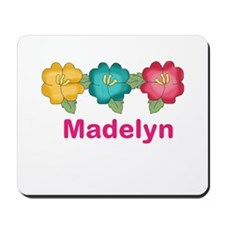 madelyn's tropical flower personalized Mousepad