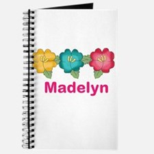 madelyn's tropical flower personalized Journal