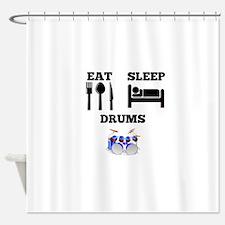 Eat Sleep Drums Shower Curtain