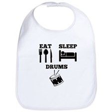 Eat Sleep Drums Bib