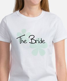 The Bride Green Flowers Women's T-Shirt