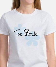 The Bride Blue Flowers Women's T-Shirt