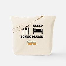 Eat Sleep Bongo Drums Tote Bag