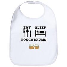 Eat Sleep Bongo Drums Bib