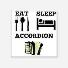 Eat Sleep Accordion Sticker