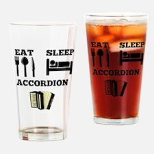 Eat Sleep Accordion Drinking Glass