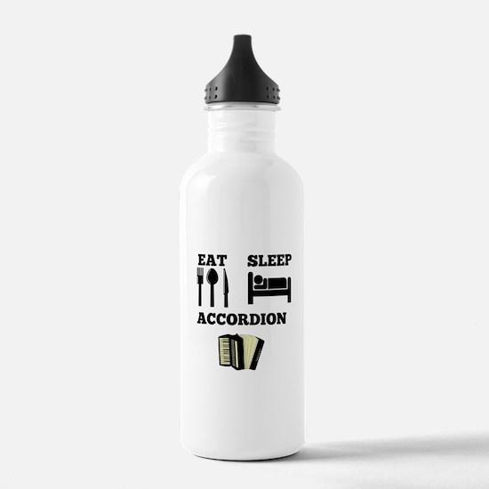 Eat Sleep Accordion Water Bottle