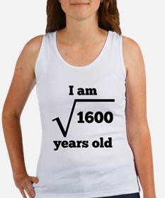 40th Birthday Square Root Tank Top
