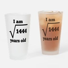 38th Birthday Square Root Drinking Glass
