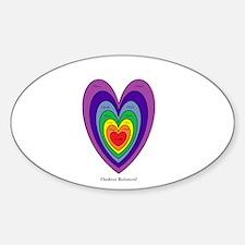 Chakras Balanced Heart Shape Decal
