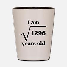 36th Birthday Square Root Shot Glass
