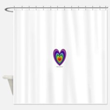 Chakras Balanced Heart Shape Shower Curtain