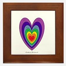Chakras Balanced Heart Shape Framed Tile
