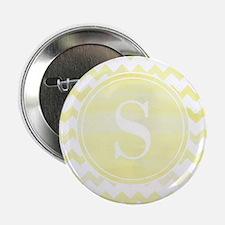 """Yellow Watercolor Chevron Zigzag Patt 2.25"""" Button"""