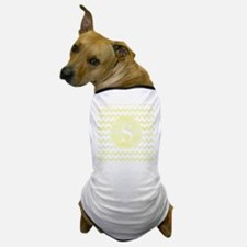 Yellow Watercolor Chevron Zigzag Patte Dog T-Shirt