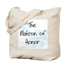 Matron of Honor Blue Tote Bag