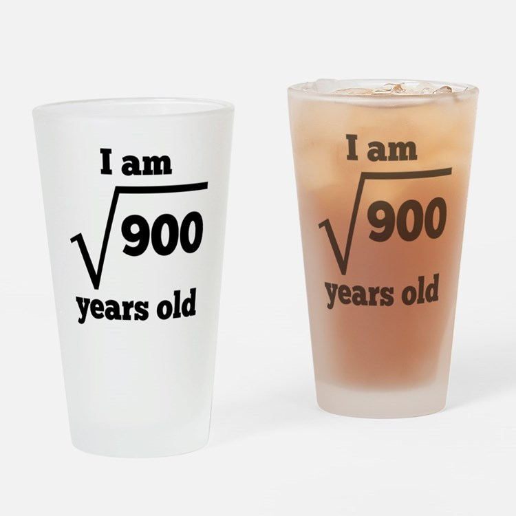 30th Birthday Square Root Drinking Glass
