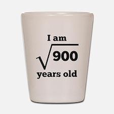 30th Birthday Square Root Shot Glass