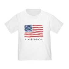 Hand Painted Style American Flag T