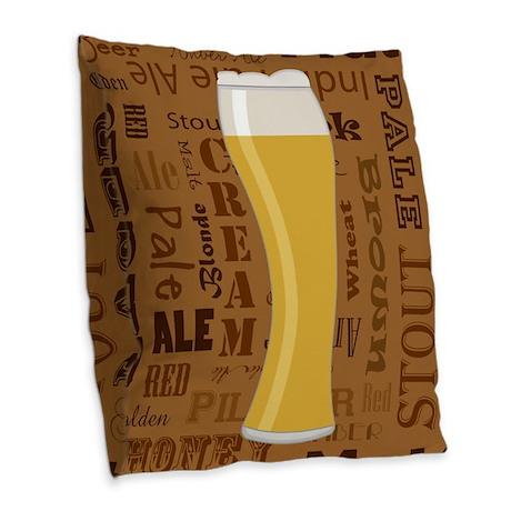 Types Of Beer Series Print 7 Burlap Throw Pillow By Admin