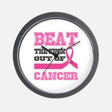 Beat Cancer Wall Clock
