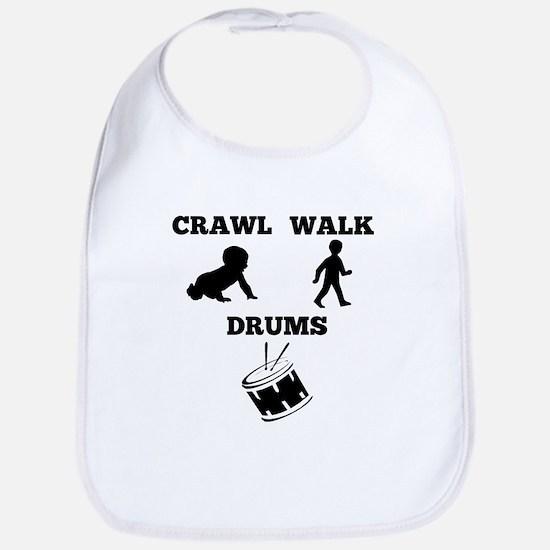 Crawl Walk Drums Bib