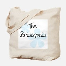 The Bridesmaid Blue Flowers Tote Bag