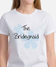 The Bridesmaid Blue Flowers Women's T-Shirt