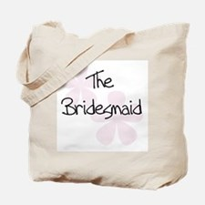 The Bridesmaid Pink Flowers Tote Bag