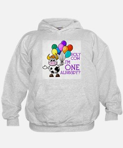 Holy Cow, I'm ONE already? (Purple) Hoodie