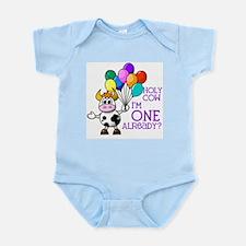 Holy Cow, I'm ONE already? (Purple) Infant Bodysui