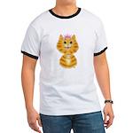 Orange Tabby Cat Princess Ringer T