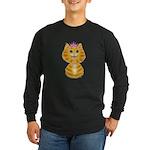 Orange Tabby Cat Princess Long Sleeve Dark T-Shirt