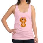 Orange Tabby Cat Princess Racerback Tank Top