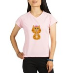 Orange Tabby Cat Princess Performance Dry T-Shirt