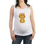 Orange Tabby Cat Princess Maternity Tank Top