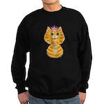 Orange Tabby Cat Princess Sweatshirt (dark)