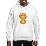 Orange Tabby Cat Princess Hooded Sweatshirt