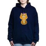 Orange Tabby Cat Princes Women's Hooded Sweatshirt