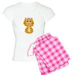 Orange Tabby Cat Princess Women's Light Pajamas
