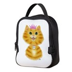Orange Tabby Cat Princess Neoprene Lunch Bag