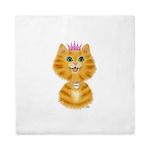 Orange Tabby Cat Princess Queen Duvet