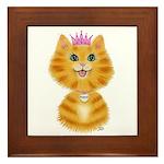 Orange Tabby Cat Princess Framed Tile