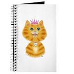 Orange Tabby Cat Princess Journal
