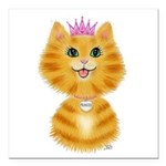 Orange Tabby Cat Princes Square Car Magnet 3