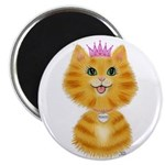 Orange Tabby Cat Princess Magnet