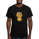 Orange Tabby Cat Princ Men's Fitted T-Shirt (dark)