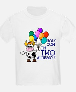Holy Cow, I'm TWO already? (Blue) T-Shirt