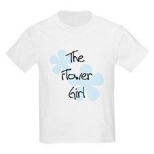 Flower Girl Blue Flowers Kids T-Shirt
